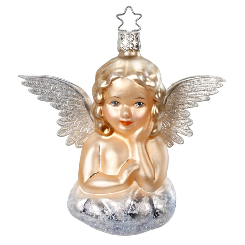 Inge Glas Antique Angel Glass Christmas Ornament | Putti Christmas Canada