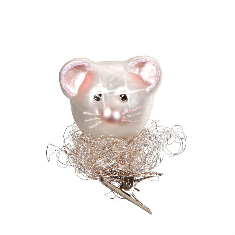 Inge Glass Christmas Mouse Ornament | Putti Christmas Canada