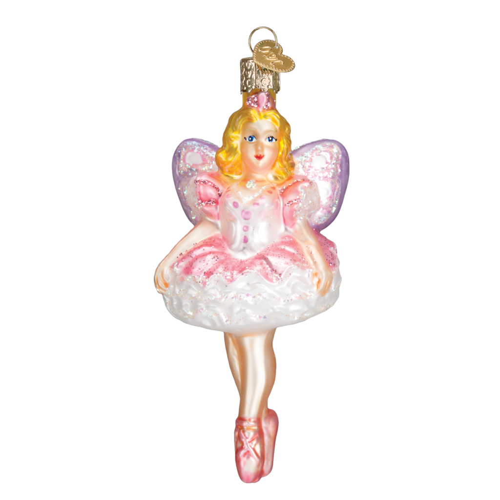 Old World Christmas Sugar Plum Fairy Glass Christmas Ornament