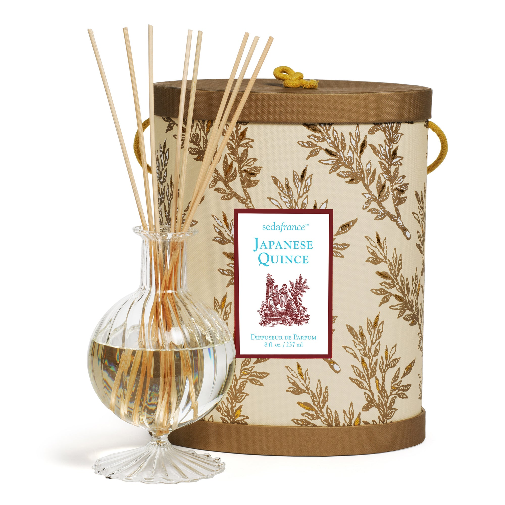 Seda France Classic Toile Japanese Quince Diffuser -  Home Fragrance - Seda France - Putti Fine Furnishings Toronto Canada