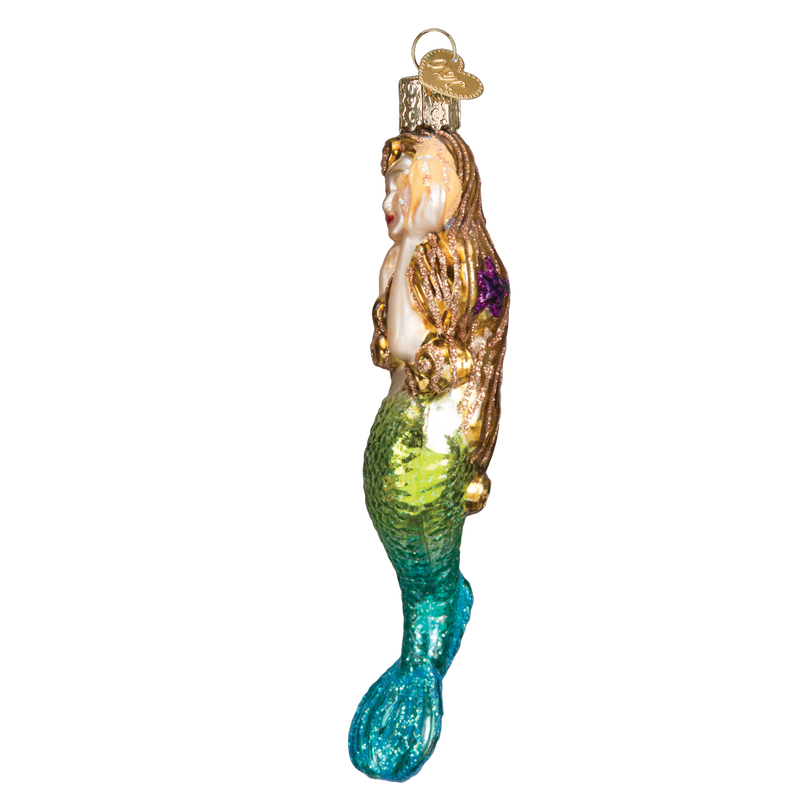 Old World Christmas Mermaid Glass Ornament
