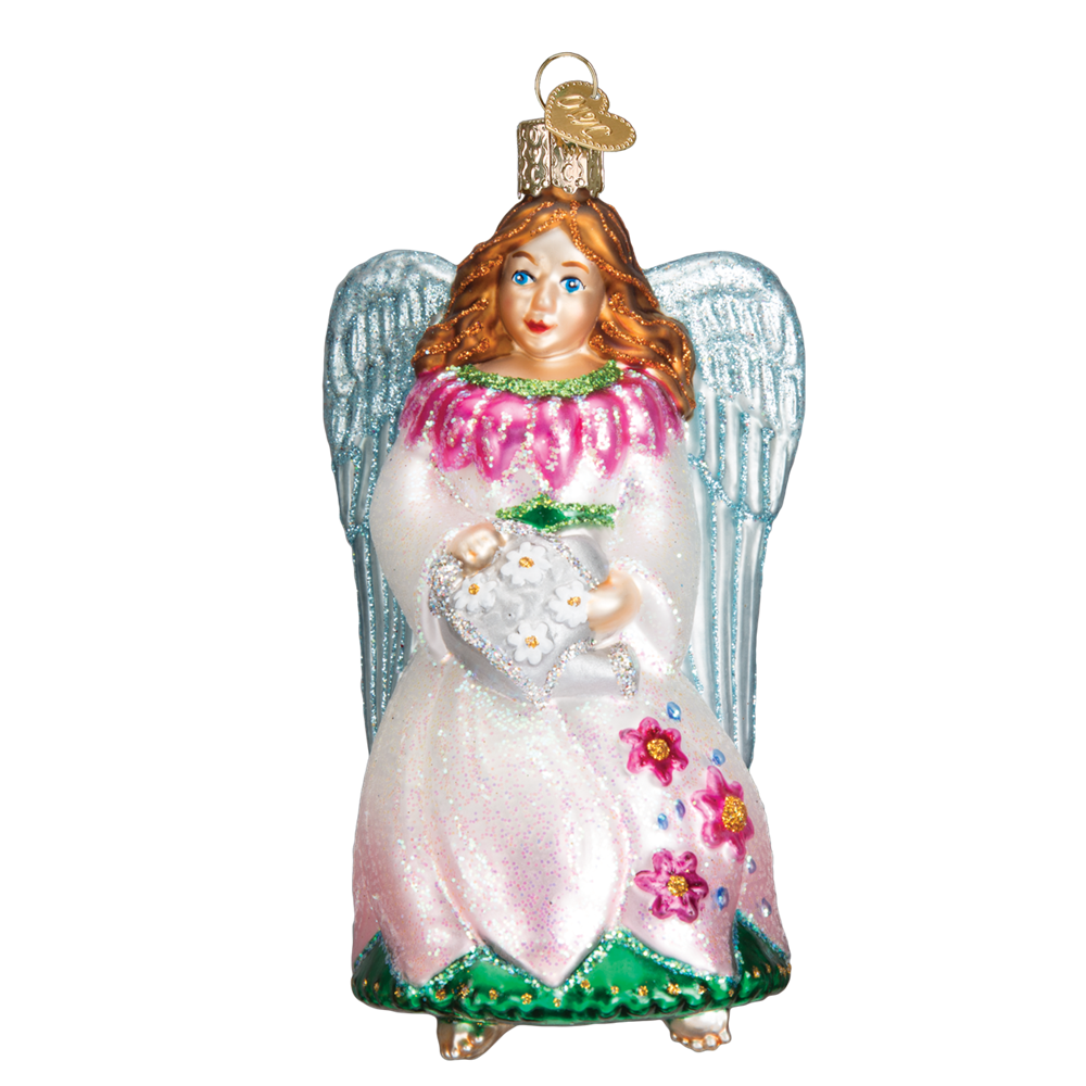 Old World Christmas Garden Angel Glass Ornament -  Christmas Decorations - Old World Christmas - Putti Fine Furnishings Toronto Canada - 1