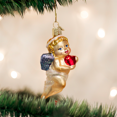 Old World Cherub Glass Ornament -  Christmas Decorations - Old World Christmas - Putti Fine Furnishings Toronto Canada - 4
