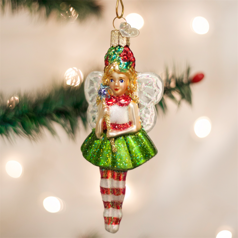 Old World Christmas Holly Fairy Glass Ornament -  Christmas Decorations - Old World Christmas - Putti Fine Furnishings Toronto Canada - 1