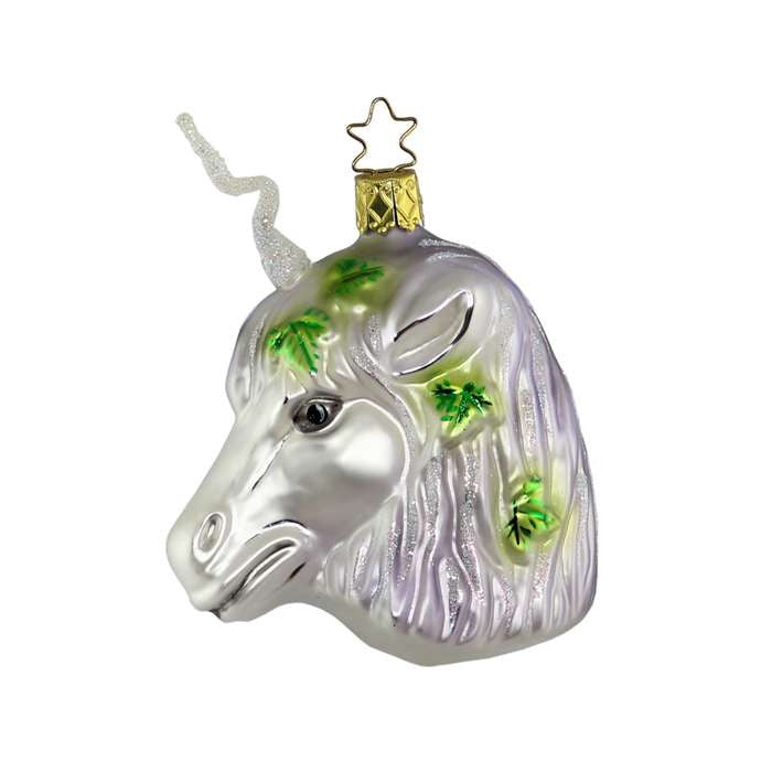 Inge Glass Unicorn -  Christmas - St. Nicks Trading - Putti Fine Furnishings Toronto Canada