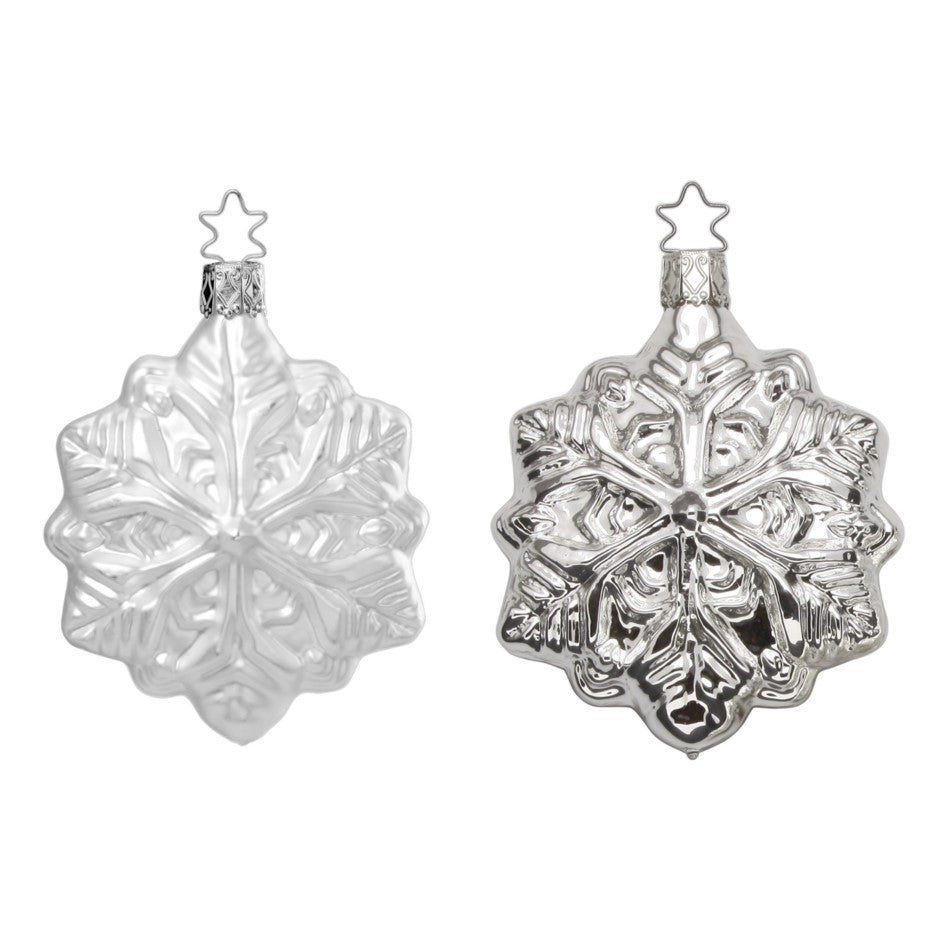 Inge Glas Festive Snowflake Glass Ornament | Putti Christmas Canada