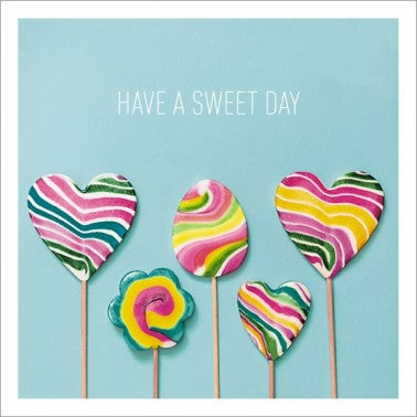 Icon Cards | Have a Sweet Day Lolipop Greeting Card | Putti Canada