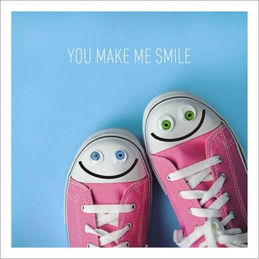 Icon Cards | You Make Me Smile Pink Converse Sneakers Greeting Card