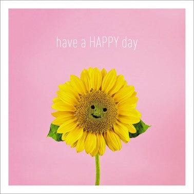 Icon Cards | Have a Happy Day Sunflower Greeting Card | Putti