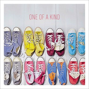 Icon Cards | One of a Kind Multicolor Converse Sneakers Greeting Card