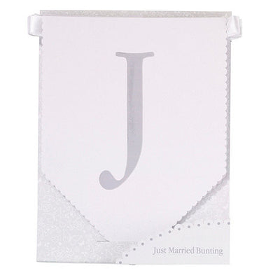 """Just Married"" Bunting -  Party Supplies - Talking Tables - Putti Fine Furnishings Toronto Canada - 3"