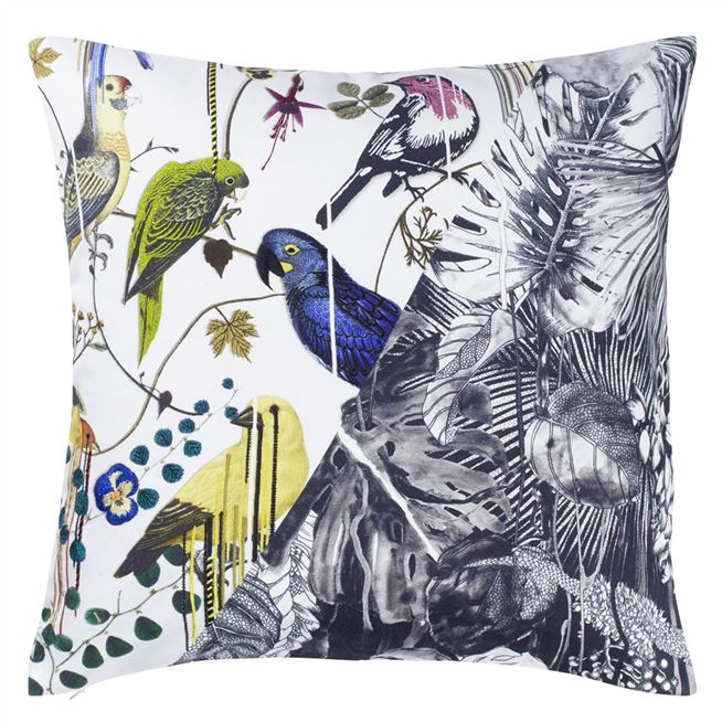 Christian Lacroix | Jungle Birds Pillow |  Putti Fine Furnishings Canada