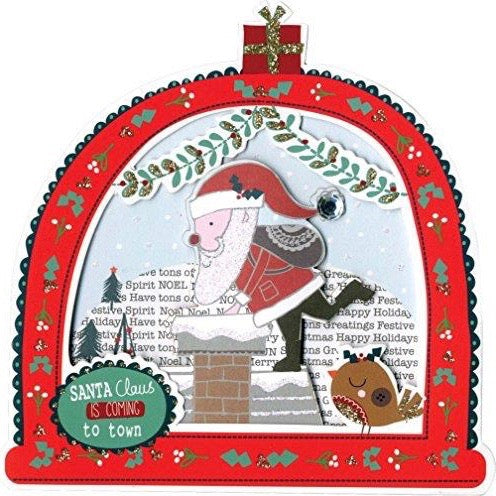Santa Snowglobe Boxed Christmas Greeting Cards