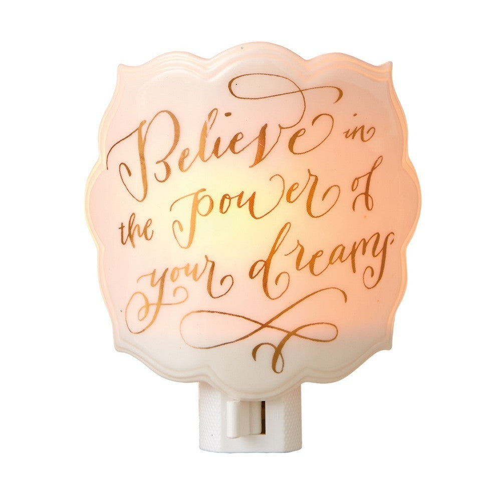 """Believe in the Power of Your Dreams"" Night Light -  Accessories - Midwest - Putti Fine Furnishings Toronto Canada"