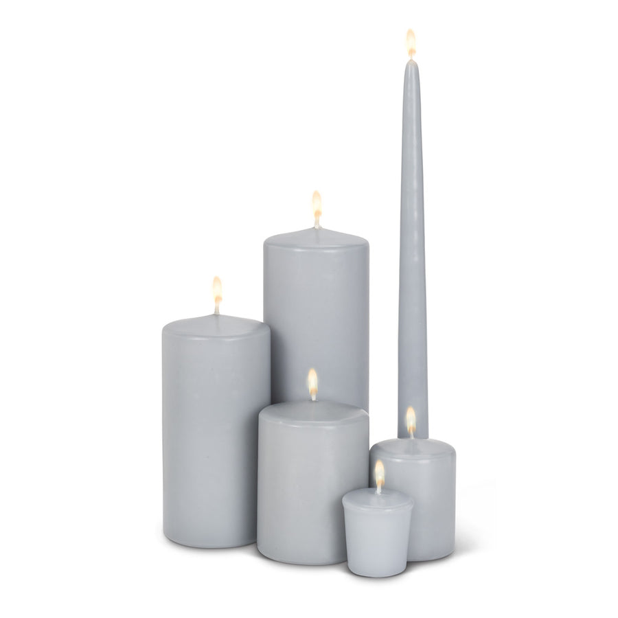 Pillar Candle Grey - Medium