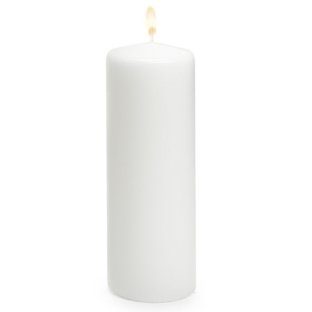 Pillar candle white large candles ac abbot collection putti fine furnishings