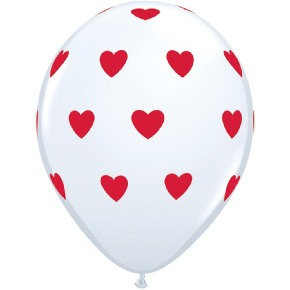 White with Red Hearts Balloon, SE-Surprize Enterprize, Putti Fine Furnishings