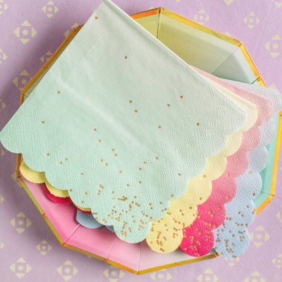 "Meri Meri ""Toot Sweet"" Ombre Small Paper Napkins -  Party Supplies - Meri Meri UK - Putti Fine Furnishings Toronto Canada - 8"