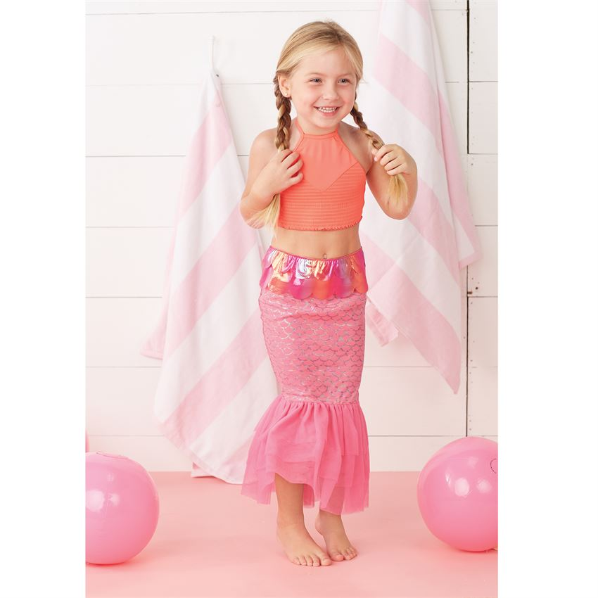 Mermaid Tail Swim Skirt - Pink