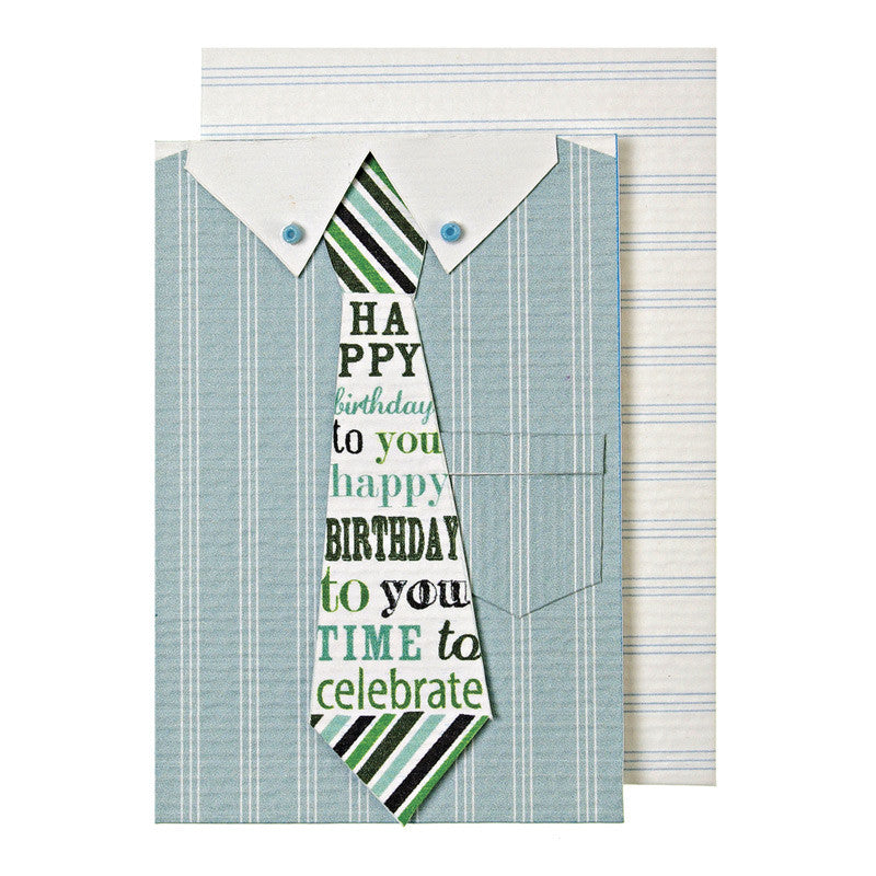 Meri Meri Happy Shirt & Tie Enclosure Card, MM-Meri Meri UK, Putti Fine Furnishings
