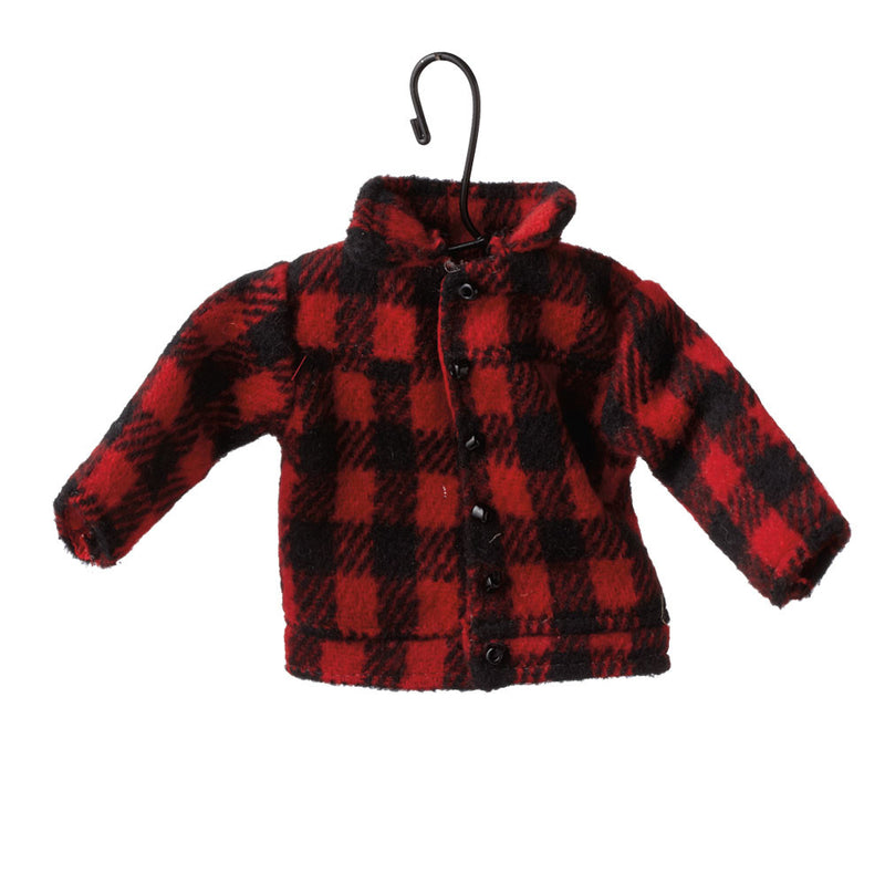 Red Plaid Coat Ornament -  Christmas - Midwest - Putti Fine Furnishings Toronto Canada