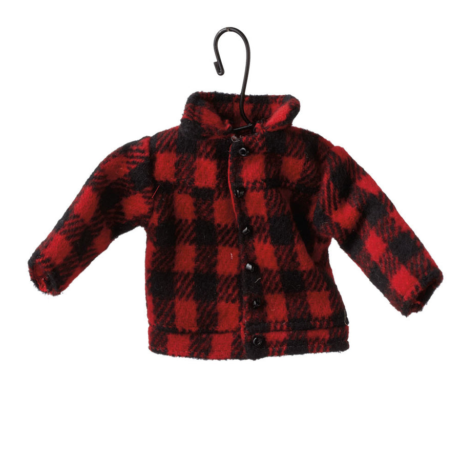 Red Buffalo Check Coat Ornament