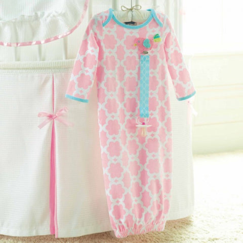 Mud Pie Baby Little Chick Sleeping Gown and Clip-Children's Clothing-MP-Mud Pie-Putti Fine Furnishings