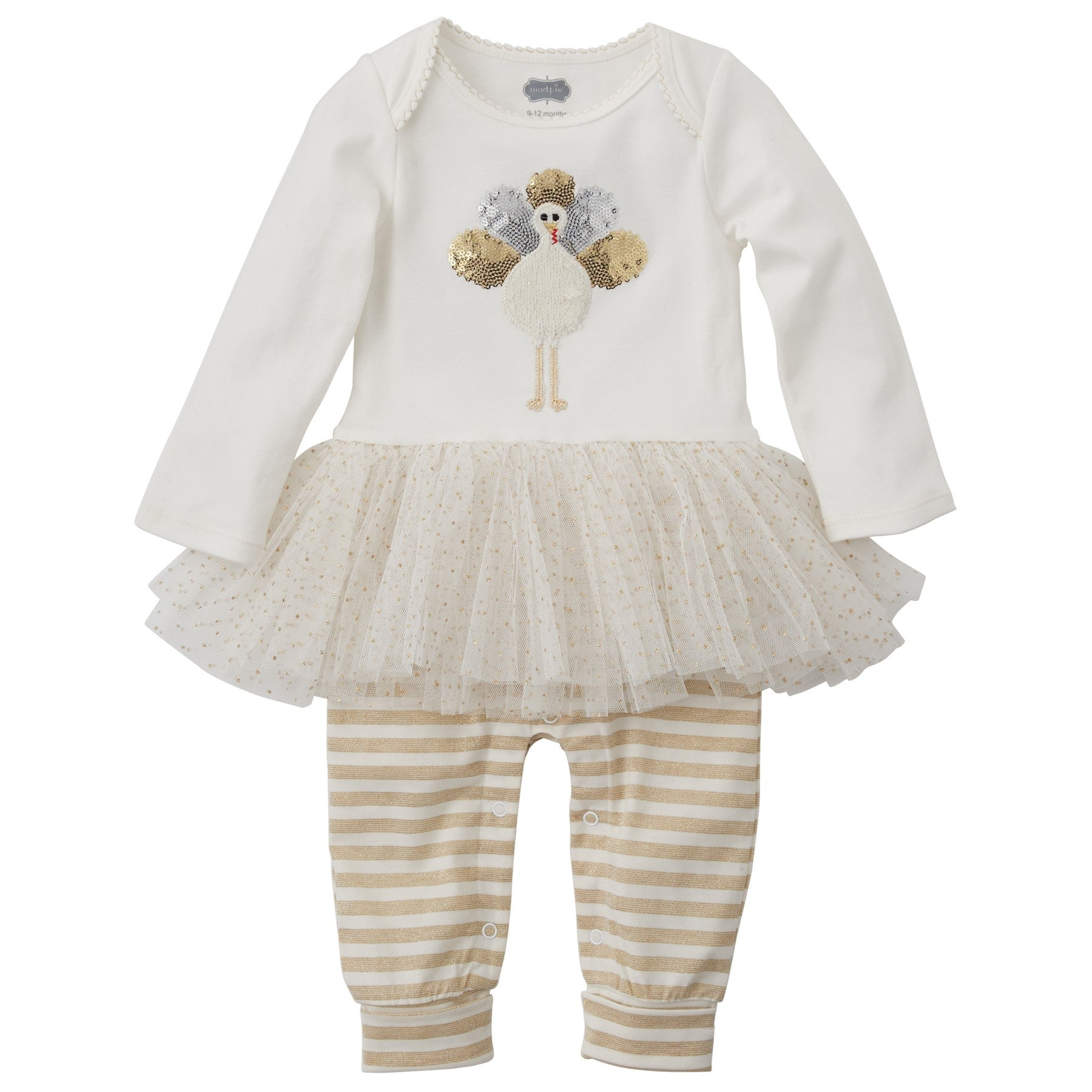 Mud Pie Turkey Tutu One Piece, MP-Mud Pie, Putti Fine Furnishings