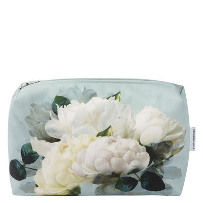 Designers Guild Peonia Grande Zinc Toiletry Bag - Medium | Putti