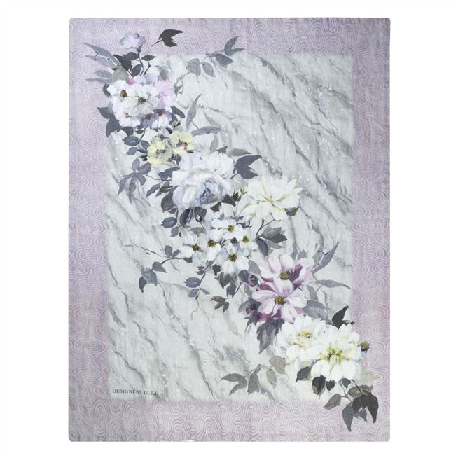 Designers Guild Carrara Fiore Grande Cameo Throw | Putti Fine Furnishings Canada