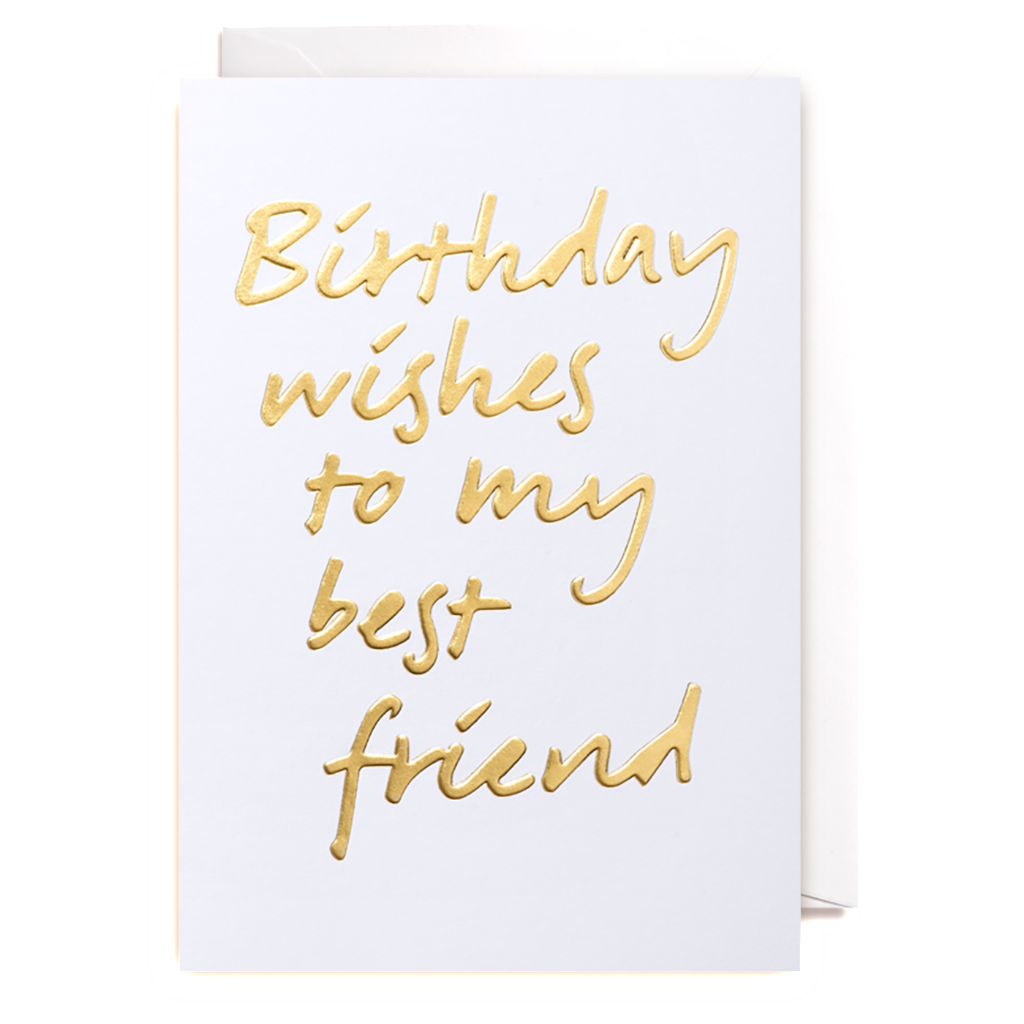 Birthday Wishes To My Best Friend Greeting Card PEC Paper E Clips