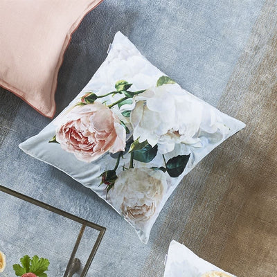 Designers Guild Peonia Grande Zinc Decorative Pillow | Putti Fine Furnishings