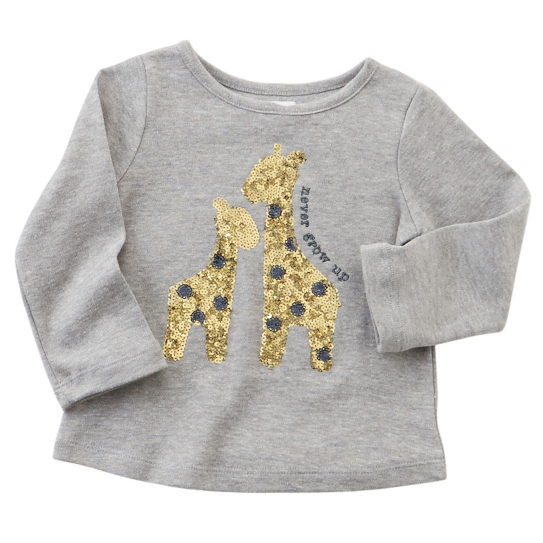 "Mud Pie ""Never Grow Up"" Giraffe Sparkle Tee, TC-Two's Company, Putti Fine Furnishings"