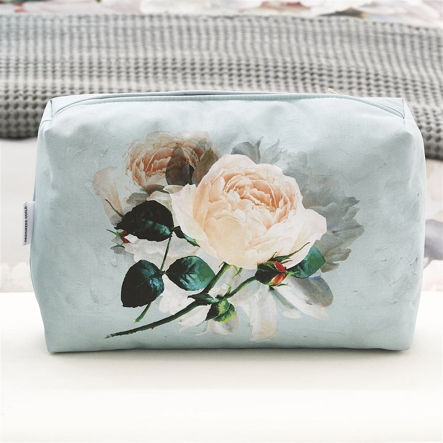 Designers Guild Peonia Grande Zinc Toiletry Bag - Large