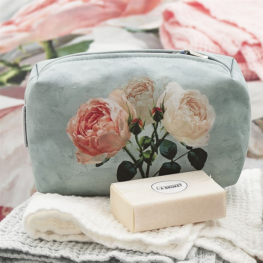 Designers Guild Peonia Grande Zinc Toiletry Bag - Small