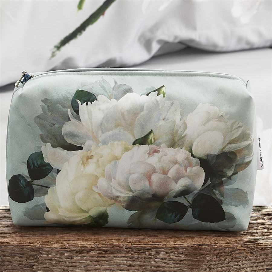Designers Guild Peonia Grande Zinc Toiletry Bag - Medium
