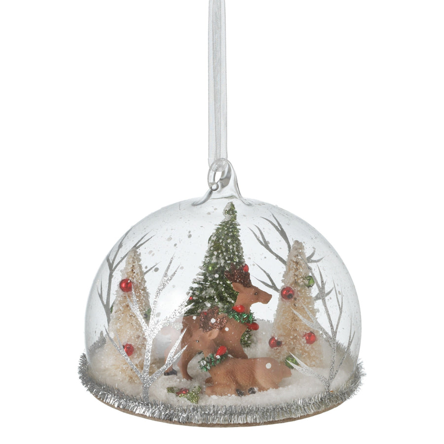 Reindeer Cloche Ornament