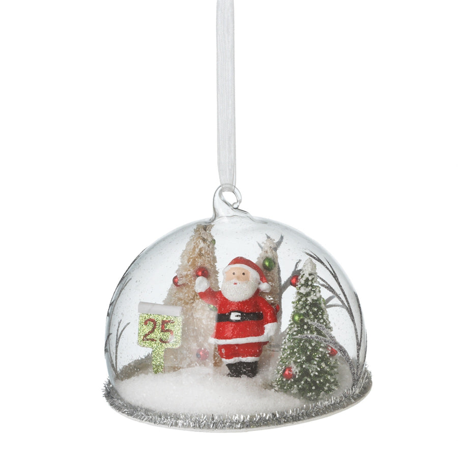 Santa Cloche Ornament