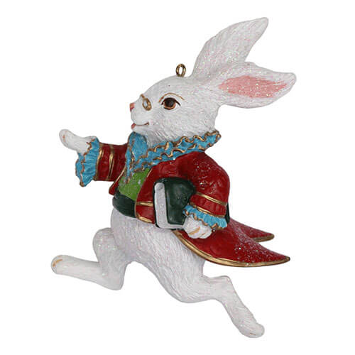 Alice in Wonderland White Rabbit Hanging Ornament | Putti Christmas Canada