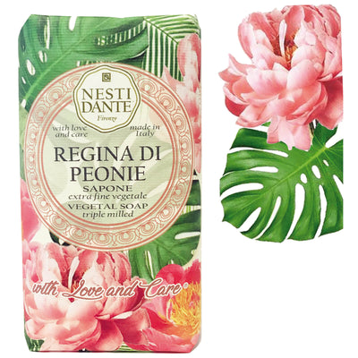 "Nesti Dante ""With Love & Care"" Regina Di Peonie Soap 