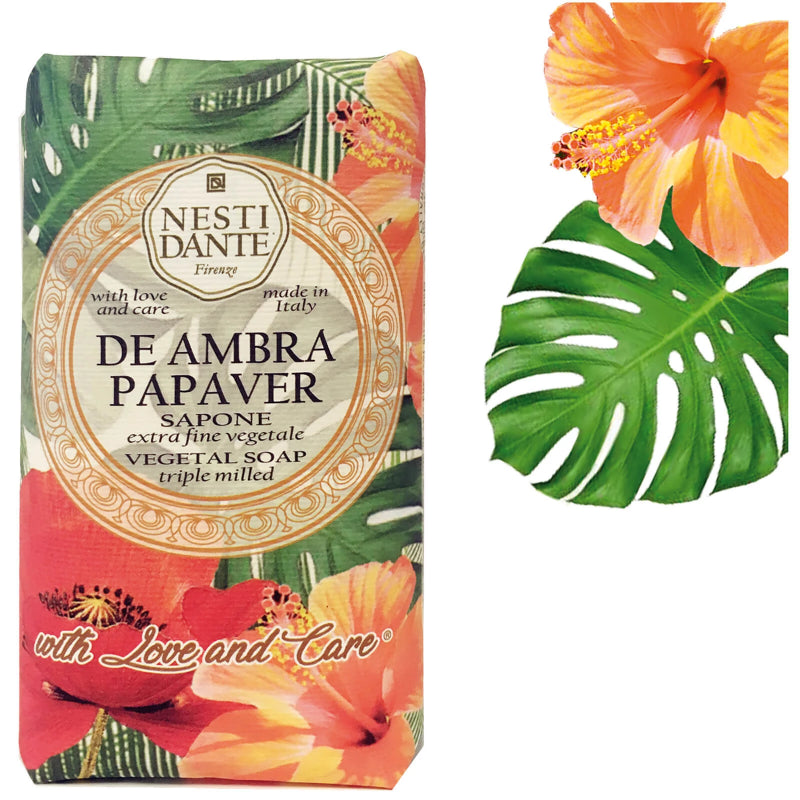 "Nesti Dante ""With Love & Care"" De Ambra Papaver Soap 