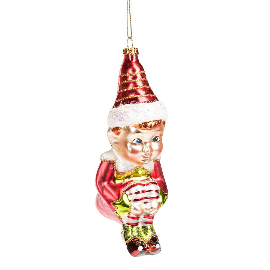 Glass Elf Ornament