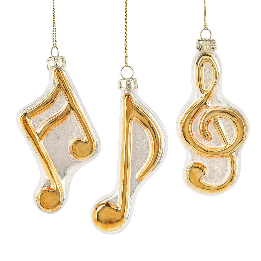 Musical Notes Glass Ornaments