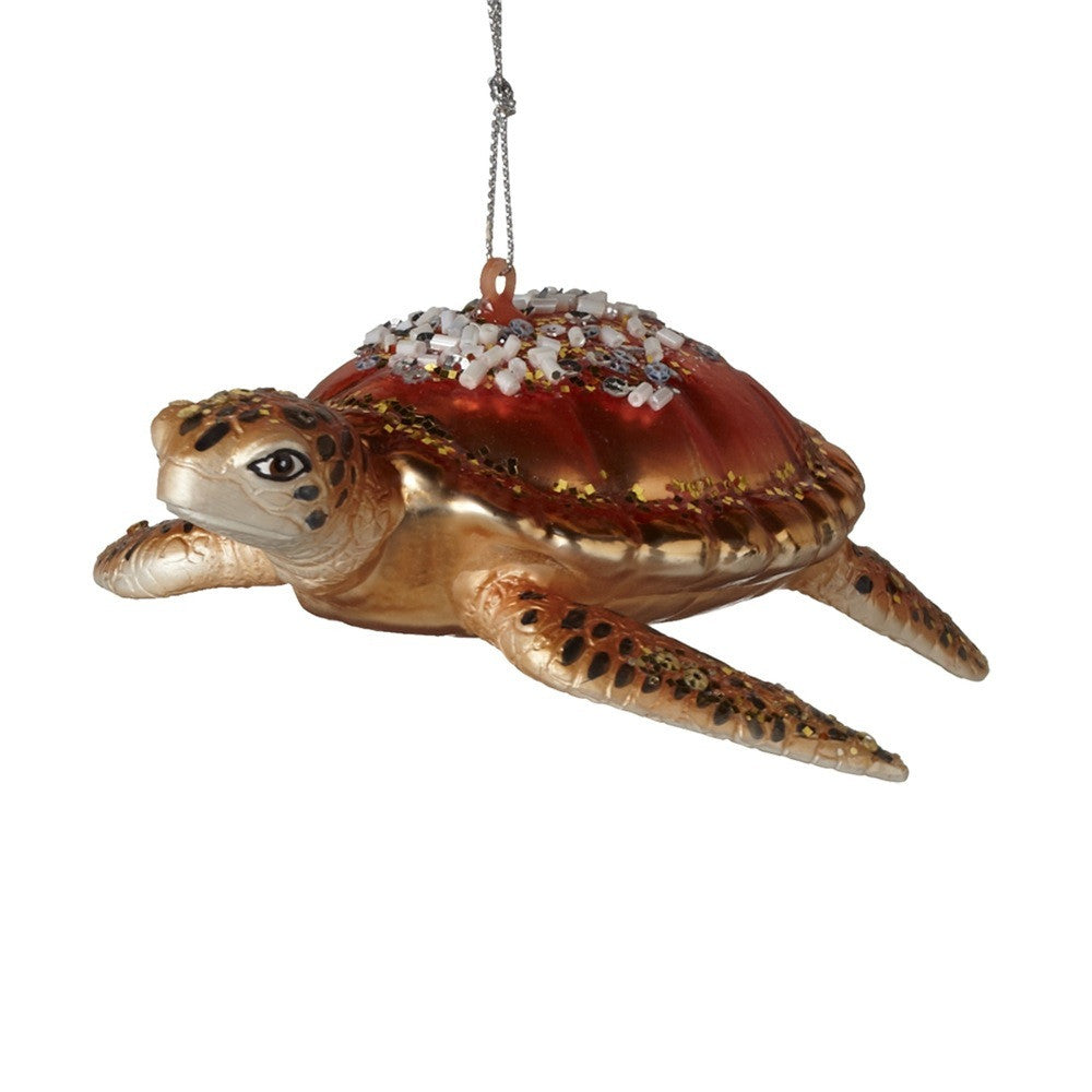 Glass Turtle Ornament -  Christmas - Midwest - Putti Fine Furnishings Toronto Canada