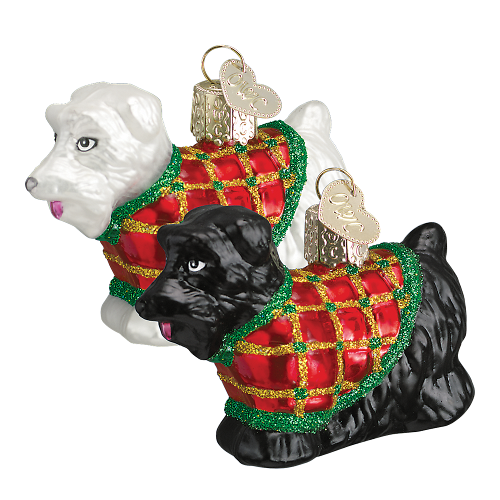 Old World Christmas Scotty Dog Glass Ornament -  Christmas Decorations - Old World Christmas - Putti Fine Furnishings Toronto Canada - 1