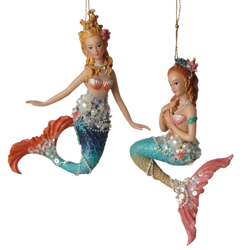 Jewelled Mermaid Ornament, MW-Midwest / CBK, Putti Fine Furnishings