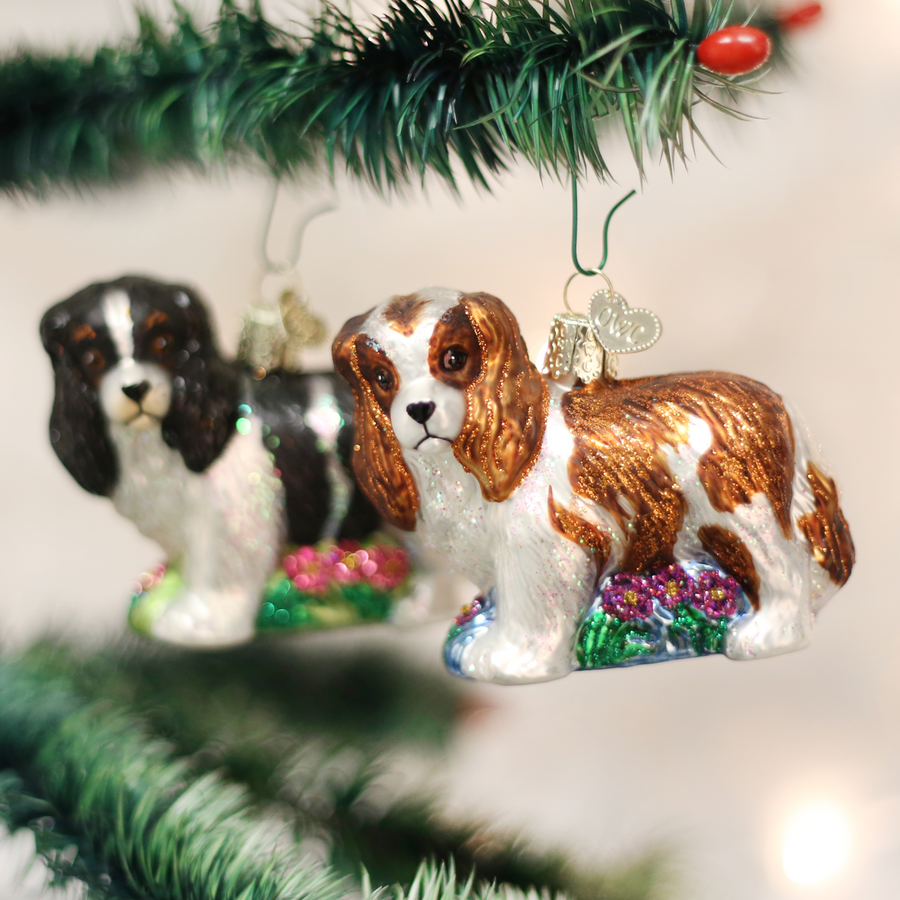 Old World Christmas Cavalier King Charles Christmas Ornament