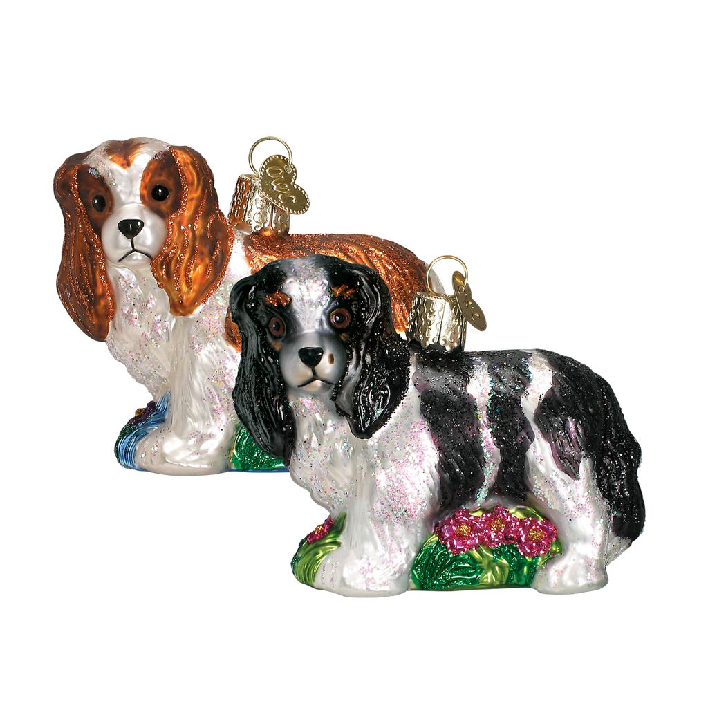 Old World Christmas Cavalier King Charles Christmas Ornament -  Christmas - Old World Christmas - Putti Fine Furnishings Toronto Canada - 1