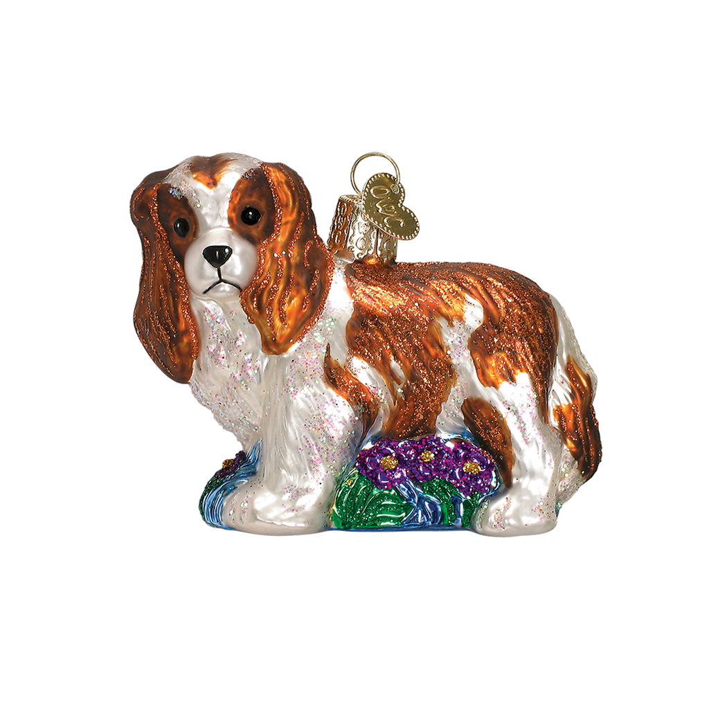 Old World Christmas Cavalier King Charles Christmas Ornament - Blenheim Breed Christmas - Old World Christmas - Putti Fine Furnishings Toronto Canada - 4