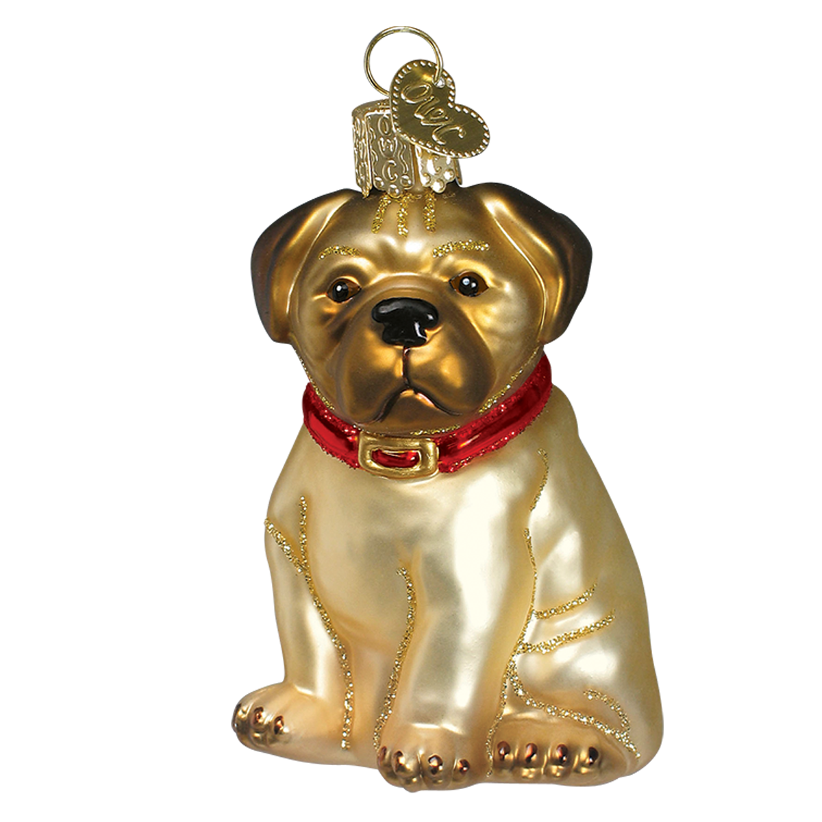 "Old World Christmas ""Pugsley"" Pug Christmas Ornament"